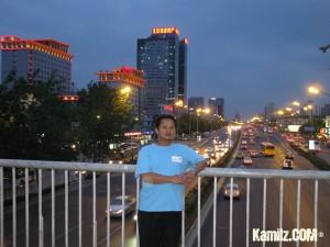 Beijing menjelang Maghrib